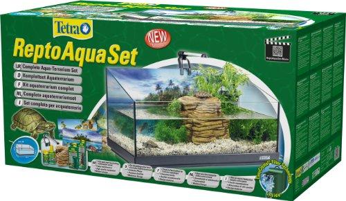 Tetra Repto Aqua Set, Komplettset (für Wasserschildkröten mit Innenfilter, Heizer, LED-Beleuchtung und Deko-Insel mit integriertem Futterplatz, ideal zur Aufzucht von Baby- und jungen Schildkröten) - 3