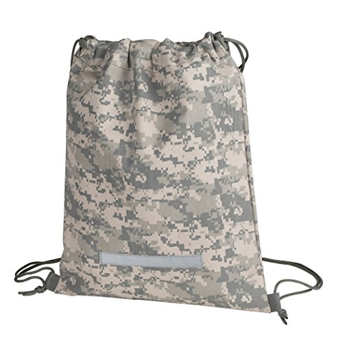 Heavy Duty Drawstring Backpack Digital Camouflage Army Navy Military Sack Bag (Pack of 1)