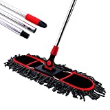 Product Image of the Dust Mop, MEIBEI Floor mop with Adjustable Long Handle - 50.5', Microfiber Hardwood Floor Sweeper- 20.9' Wide Metal Frame Mop Head, Wet or Dry, Perfect for Small Space, Restroom and Wall