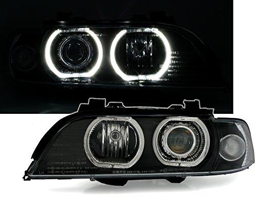 Angel Eyes Scheinwerfer Set, Schwarz, mit LED Standlichtringen