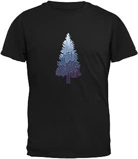 Old Glory Christmas Tree Snowy City Black Adult T-Shirt