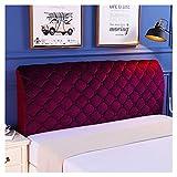HDGZ Funda Protectora para Cabecero De Cama Cabecera De Cama, Tejido De Terciopelo Suave, Funda Protectora para Decoración del Dormitorio Lavable (Color : Purple, Size : 1.5m)