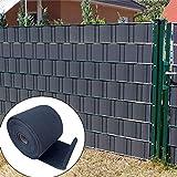 COOL AREA HDPE Paravista Strisce Rotolo Recinzione Protezione frangivento frangivista per Giardino,19cmx35m, Charcoal