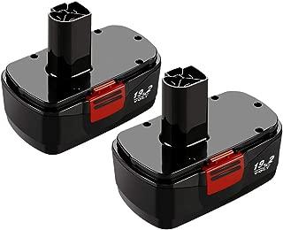2Packs 19.2 Volt 3.0Ah Battery for Craftsman C3 DieHard 130279005 130279003 130279017 315.113753 315.115410 315.11485 1323903 1323517 11375 11376 Cordless Drill Tool
