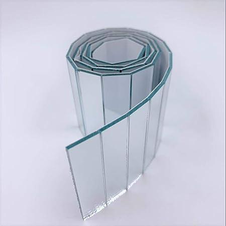 Nuorui Miroir adhésif rectangulaire en verre véritable pour projets d'artisanat - 12,7 mm x 50,8 mm