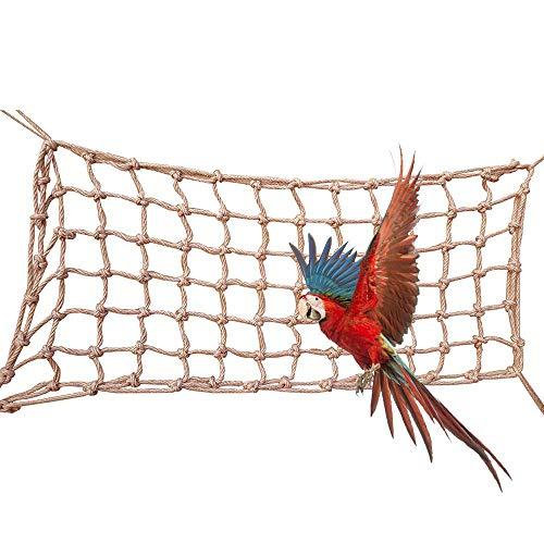 Bird Parrot Climbing Net, Bird Swing Toys, Hanging Climbing Net Rope Ladder Hammock for Parrot Budgies Parakeet Perch for All Kinds of Parrot and Birds