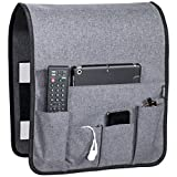 Works Where Others Don't, Anti Slip Couch Caddy Holds 10lbs w/Hook & Loop Fastener, Easily Holds up to 12' Laptop, TV Remote, Magazines, Best Solution for Max Load Capacity, Armchair Caddy(14x 35)