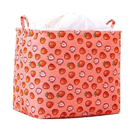 DOITOOL - Cesta de lavandería plegable impermeable plegable para la colada de la cesta de almacenamiento grande para la cesta de la guardería y la habitación de los niños (rojo)
