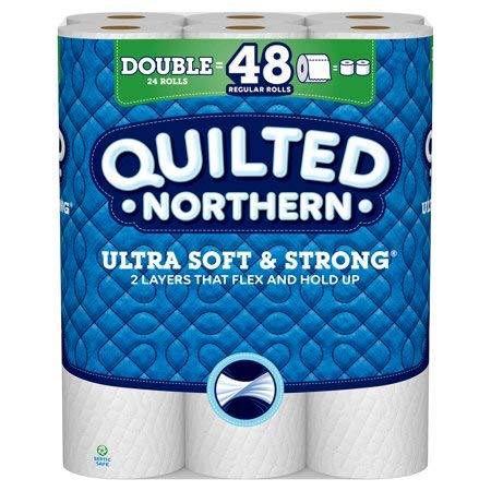 Quilted Northern Ultra Soft & Strong Toilet Unscented Paper 24 Double Rolls