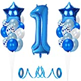 Globos de Cumpleaños 1 año, Decoración cumpleaños 1 Años, Feliz cumpleaños Decoración Globos...