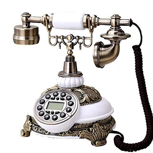 TRTT Teléfono Fijo Retro Europeo clásico Teléfono Retro/teléfono de marcación giratoria/teléfono de Estilo Retro/teléfono Antiguo/teléfono de Escritorio clásico con Marcador Giratorio, te