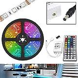 UltraBright 1m / 2m / 3m / 4m / 5m Multicolor 12V IP20 5050 Hada Luz Tiras de RGB LED SMD (60LEDs/m) incl. 44 Teclas IR Mando a Distancia, Controlador (5 Metros)