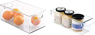 InterDesign Fridge/Freeze Binz Box de Rangement pour frigo & boîte de Rangement à poignée, Petit bac Plastique pour Le Pla...