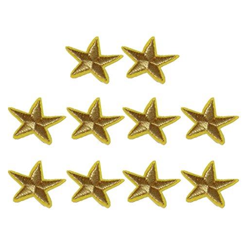 sharprepublic 10 Piezas de Hierro en Apliques de Estrellas Apliques en Ropa Artesanías de Bricolaje Cosen Insignias
