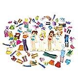Ruby569y Juguetes de juego de simulación, 63 unids/set educativo magnético de madera DIY rompecabezas rompecabezas niños desarrollo juguete - A