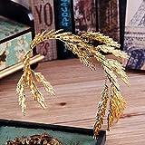 Accesorios para el cabello Corona de novia dorada retro Ambiente de espiga de trigo europeo y americano temperamento exagerado Tocado de vestido de novia Queen Fan