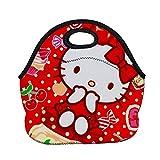 Borsa per il pranzo Carino Hello Kitty Portatile Isolamento Termico Pranzo Tote Ordinario/Con Tasca/Con Nastro per Scuola Ufficio Picnic Escursioni Spiaggia, Colore 1, Ordinary