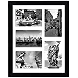 Americanflat Collage Picture Frame in Black with Five Displays of 4' x...