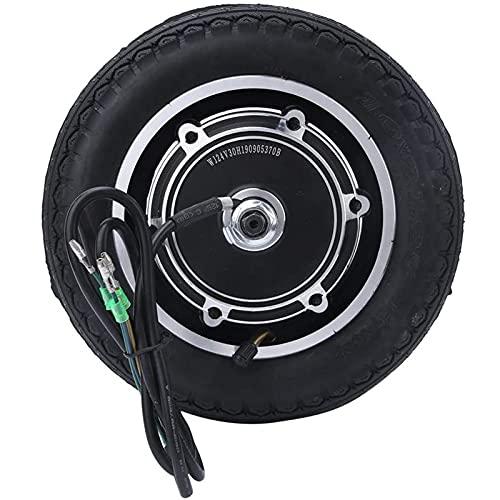 Massage-AED Scooter de Motor de Cubo de Rueda, neumático de Scooter de Motor eléctrico de 10 Pulgadas aleación de Aluminio 36 / 48V 350W Accesorio de Motor de Cubo de Rueda de Scooter