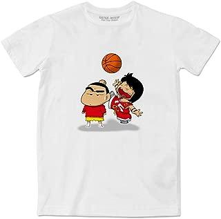 Nowara Shnnosuke VS Chicho Terremoto Crayon Shin Chan Crossover Dash Kappei White Couple T-Shirt