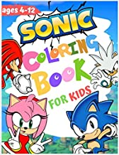 sonic coloring book for kids ages 4-12: Jumbo Coloring Book with high Quality  images ( unofficial )