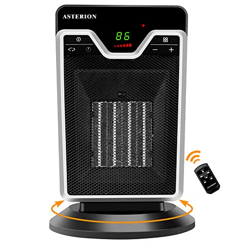 Ceramic Space Heater,ASTERION 1500W Portable Oscillating...