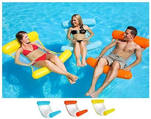 GREENS Aufblasbares Schwimmbett, Wasser-Hängematte 4-in-1Loungesessel Pool Lounge luftmatratze Pool aufblasbare hängematte Pool aufblasbare hängematte für Erwachsene und Kinder (Dunkelblau)