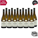 Roussette de Savoie cru Marestel Blanc 2017 - Domaine Saint-Romain - Vin AOC Blanc de Savoie - Bugey - Cépage Altesse - Lot de 12x75cl