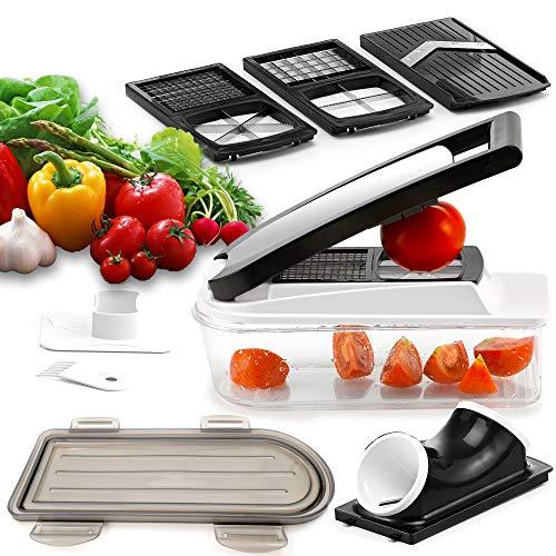 Hoerde Chefkoch Küchen Set - Spiralschneider, Gemüsehobel, Fritten scheiden und Gemüse würfeln - Gemüseschneider Zwiebelschneider Pommesschneider Obstschneider Allesschneider Spiralizer