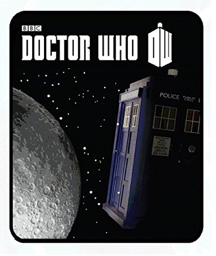 Doctor Who 'Tardis Moon' Comfy Fleece Blanket Throw 50x60'