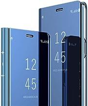 جراب INJOY لهاتف Samsung Galaxy A7 2018 EMAXELER بتصميم أنيق مرآة، عاكس واقٍ بالكامل مقاوم للخدوش ومضاد للصدمات لهاتف Samsung A7 2018 SM-A750: أزرق