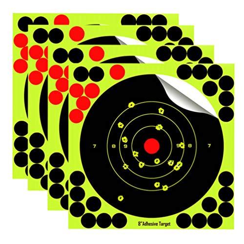 WINOMO 25 Pcs Splatterburst Ziele 8 Zoll Selbstklebendes Schießen Ziel Splatter Shot Burst Bringt Fluoreszierendes Gelb Beim Aufprall