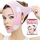Double Chin Reducer, Face Slimming Strap, V Line Lifting Mask Chin Strap for Women and Men, Anti-Wrinkle Face Mask for Double Chin and Shaggy Face Skin
