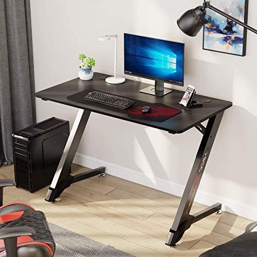 EUREKA ERGONOMIC Gaming Desk 43' Home Office Computer PC Desks, Black