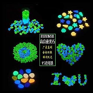 Glow in The Dark Pebbles, Glow Decorative Stones Rocks, Luminous Pebbles for Outdoor Decor, Garden Lawn Yard, Aquarium, Wa...