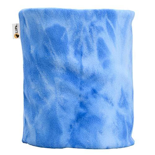 LUPA Canadian Handmade Unisex Double-Layer Micro Fleece Neck Warmer (Blue Tie-Dye)