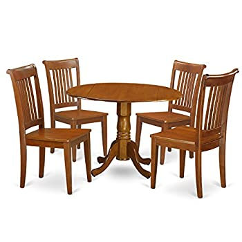 5 PC Kitchen Table set-breakfast nook and 4 Wooden Chairs