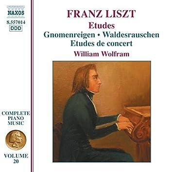 Liszt Complete Piano Music, Vol. 20: Gnomenreigen, Waldesrauschen & Études de concert