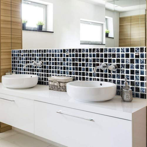 Ambiance 6er Pack Fliesenaufkleber | Fliesenaufkleber Bordüre Fliesen | Fliesenaufkleber für Bad und Küche | 5x30 cm – 6 Stück