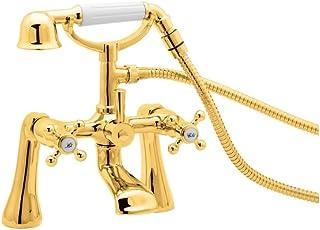 Deva TUD03/501 TUDOR Bath Mixer Tap, Gold