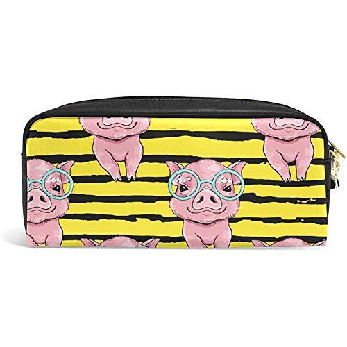 Makeup Brush Bag,Pochette De Maquillage De Porc, Sacs De Brosse De Maquillage Décontractés Pour L'Anniversaire De Vacances De Mariage