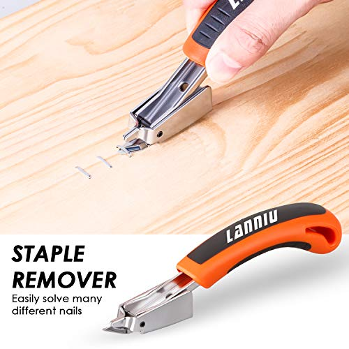 LANNIU Staple Gun, Heavy Duty Staple Gun with Remover, 4 in 1 Staple Gun with 4000 Staples for Upholstery, DIY, Fixing Material, Decoration, Carpentry, Furniture Photo #7