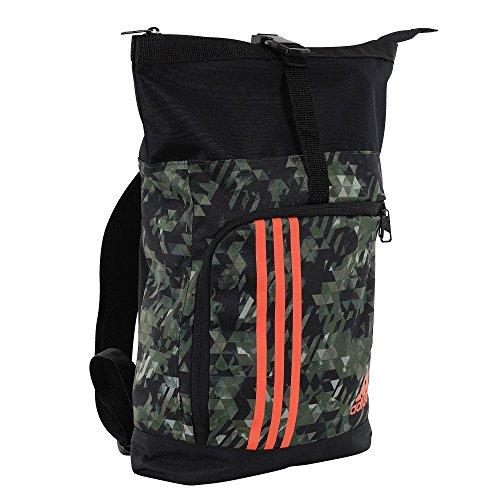 adidas Boxhandschuhe Training Militär-Reisetasche Sporttasche Rucksack Tasche Tasche Sportbag, Größe: S, Farbe: Camo/Schwarz