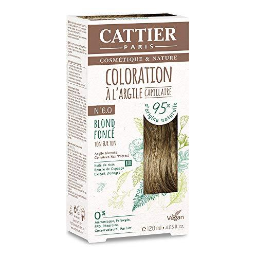 Cattier Kit Coloration Capillaire à l'Argile - N°6.0 Blond Foncé