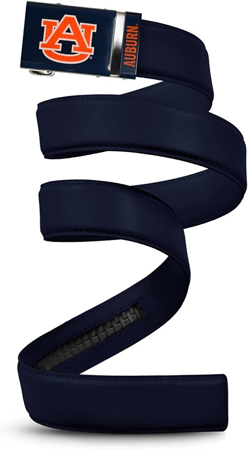 NCAA Auburn Tigers Mission Belt, Deep blueee Leather, Extra Large (up to 42)