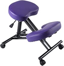 Adjustable Ergonomics Kneeling Chair Stool for Kneeling for Better Posture Home Office or Desk Chair Knee Pads ,with Wheel...