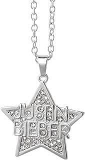 Justin Bieber Crystal Star Necklace