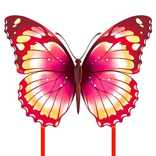 Mint\'s Colorful Life Schmetterling Drachen flugdrachen für Kinder und Erwachsene (Rosa)