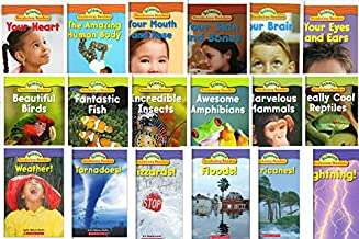 Scholastic Science Vocabulary Readers 18 Books Set - Body/Animals/Nature