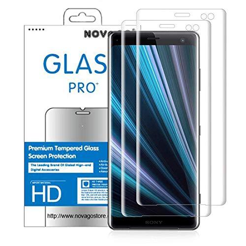 NOVAGO [2 Pack Compatibile con Sony Xperia XZ3 - Pellicola Vetro Temperato (Copre l'intero Schermo)